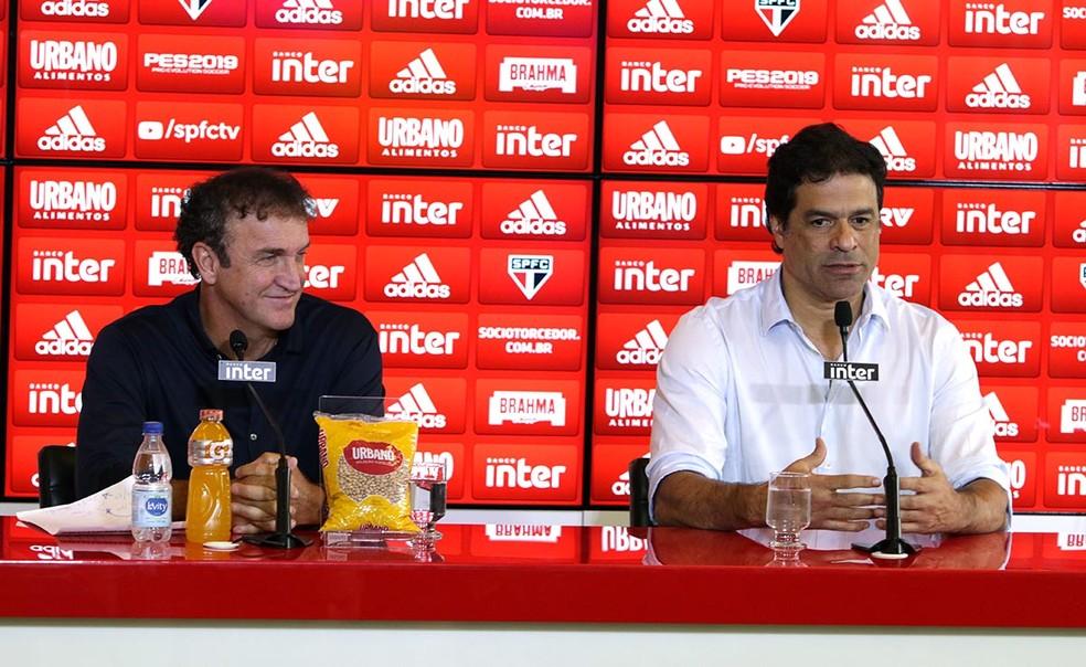 Cuca está em contato constante com Raí para definição de reforços para o Tricolor — Foto: Rubens Chiri / saopaulofc.net