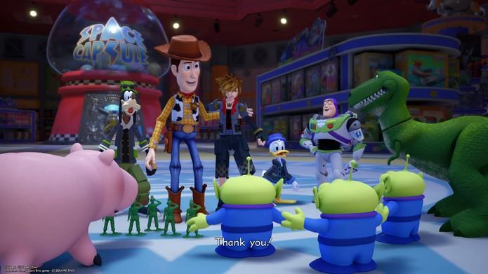 Sora conquiert tout le monde dans Kingdom Hearts 3 (Photo: Reproduction / Murilo Tunholi)