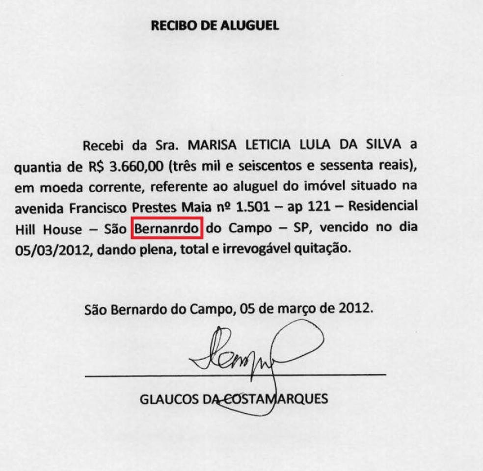 São Bernardo do Campo foi escrito de forma errada (Foto: Reprodução)
