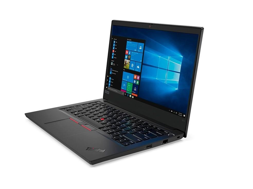 Thinkpad E14 tem tranckpoint no teclado e tela de 14 polegadas — Foto: Divulgação/Lenovo