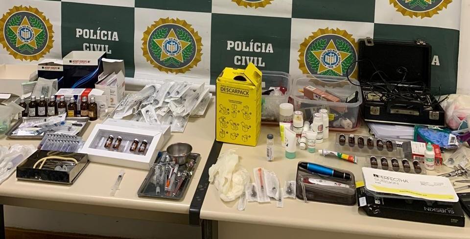 Polícia Civil do RJ interdita clínicas de estética irregulares em Nova Iguaçu; responsáveis são presos em flagrante