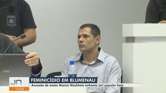 Júri popular de acusado de matar Bianca Wachholz começa em Blumenau
