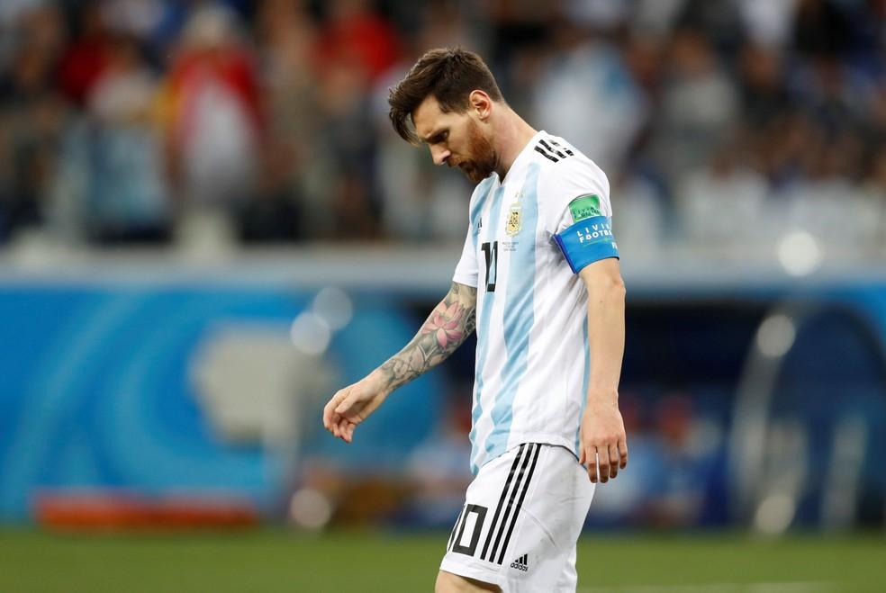 Messi teve atuação apagada contra a Croácia  (Foto: REUTERS/Matthew Childs)