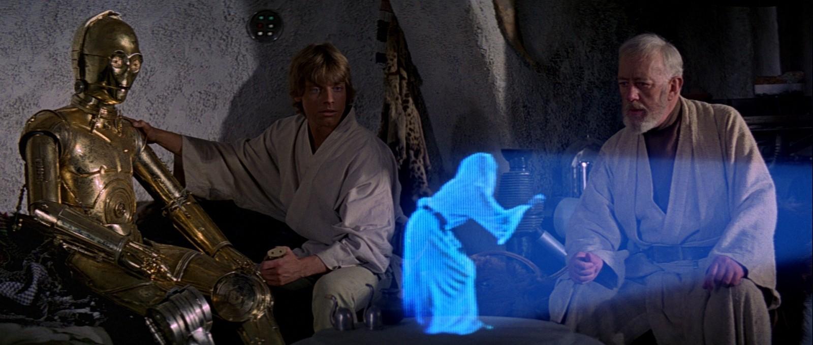 Hologramas como os de Star Wars estão um passo mais próximo de se tornarem realidade. (Foto: Divulgação)