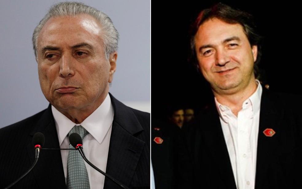 Montagem com fotos do presidente Michel Temer e do dono da JBS, Joesley Batista (Foto: Ueslei Marcelino/Reuters; Zanone Fraissat/Folhapress/Arquivo)