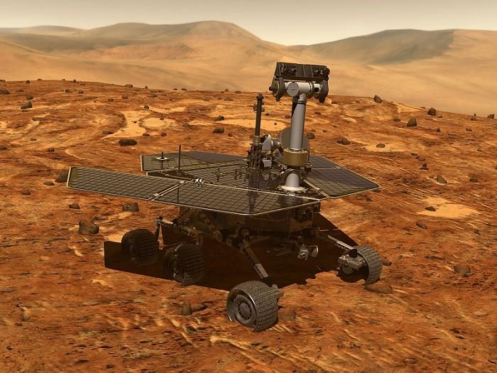 Reprodução artística da sonda Opportunity (Foto: NASA)