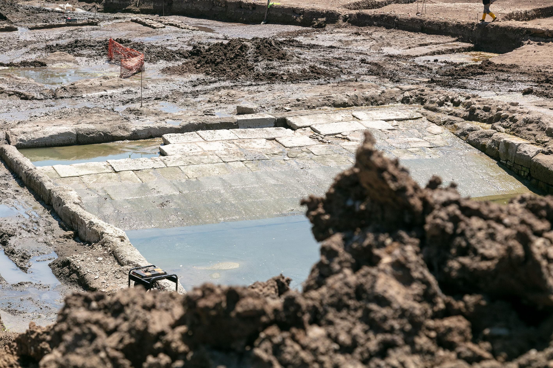 Rampa da piscina (Foto: S OPRINTENDENZA SPECIALE DI ROMA)