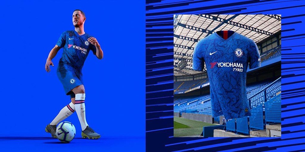 Nova camisa Chelsea — Foto: Reprodução