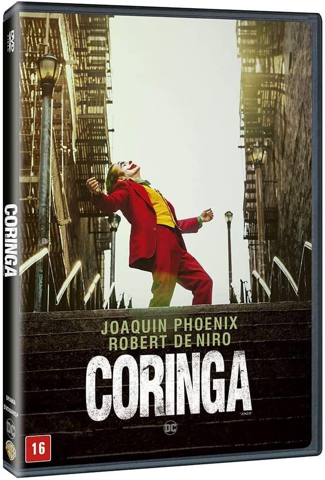 O DVD de Coringa está disponível em disco único com áudio e legendas em inglês e português (Foto: Divulgação/Amazon)