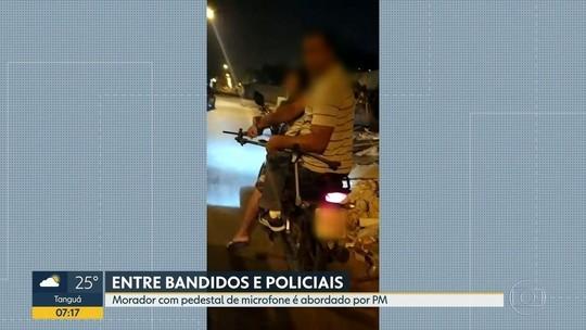 PM quase confunde pedestal de microfone com arma no Rio; vídeo