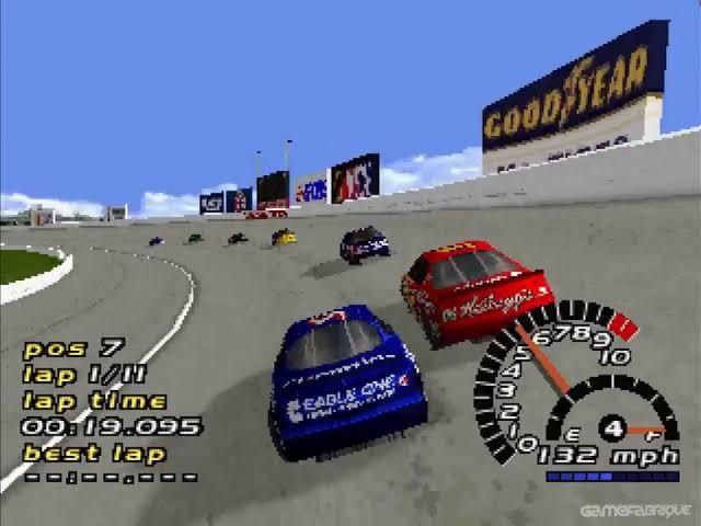 NASCAR 2000, de PlayStation 1 (Foto: Divulgação)
