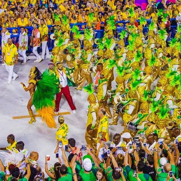 Juliana Paes durante o desfile da Grande Rio (Foto: Reprodução Instagram)