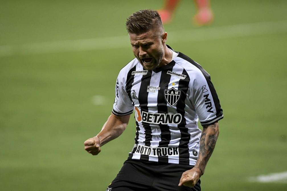 Eduardo Sasha comemora gole pelo Atlético-MG — Foto: Divulgação/ Mineirão