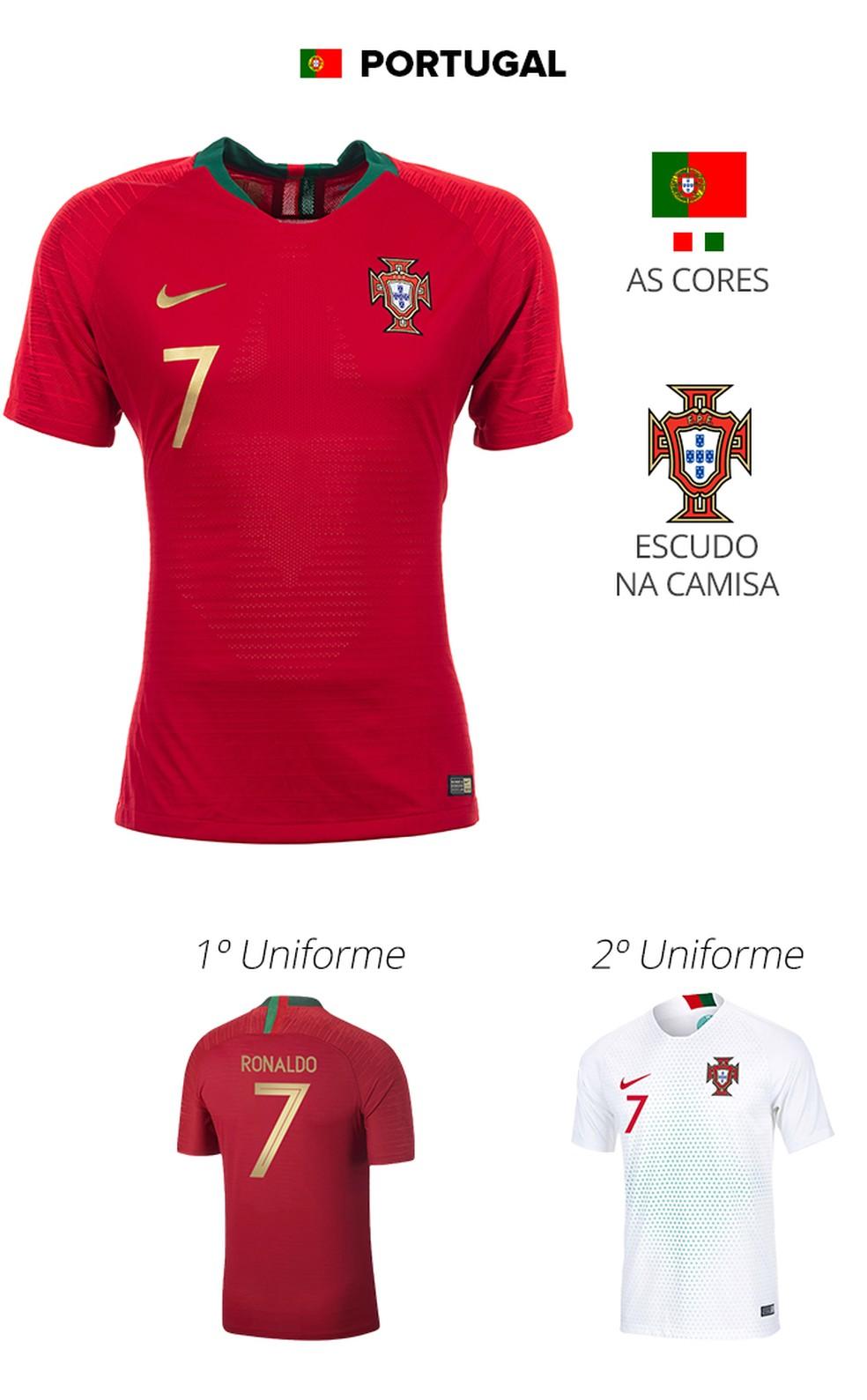 As camisas das 32 seleções da Copa  522f2f0724a91