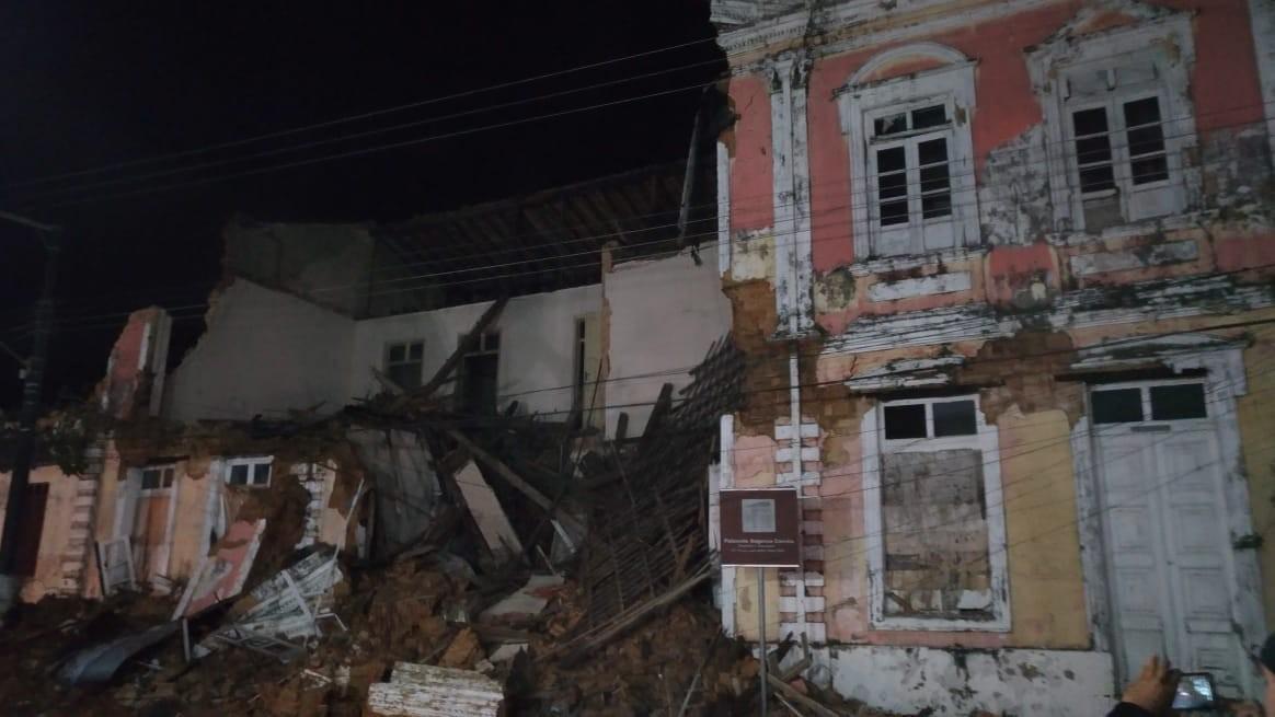 Ministério Público pede explicações à Prefeitura de Bragança sobre desabamento do Palacete Augusto Corrêa