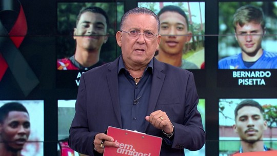 """Galvão lamenta tragédia, mas diz: """"Flamengo não pode se achar perseguido por perguntas"""""""