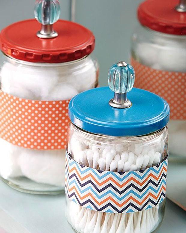 Potes de vidro: Itens de Higiene (Foto: Pinterest/Reprodução)