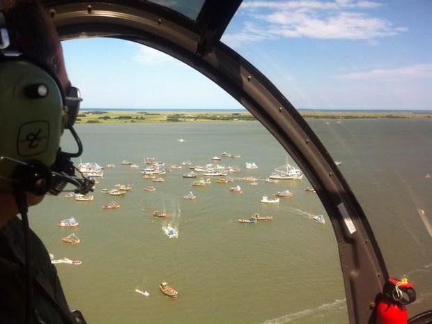 Helicópteros serão usados durante todo o período de veraneio (Foto: Divulgação/Brigada Militar)