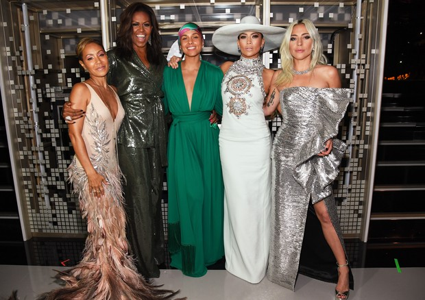 Lady Gaga, Jada Pinkett Smith, Alicia Keys, Michelle Obama e J.Lo (Foto: Getty Images)