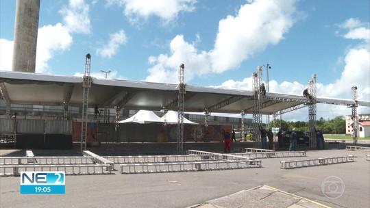 Estrutura do São João da Capitá conta com palco de 600 m²