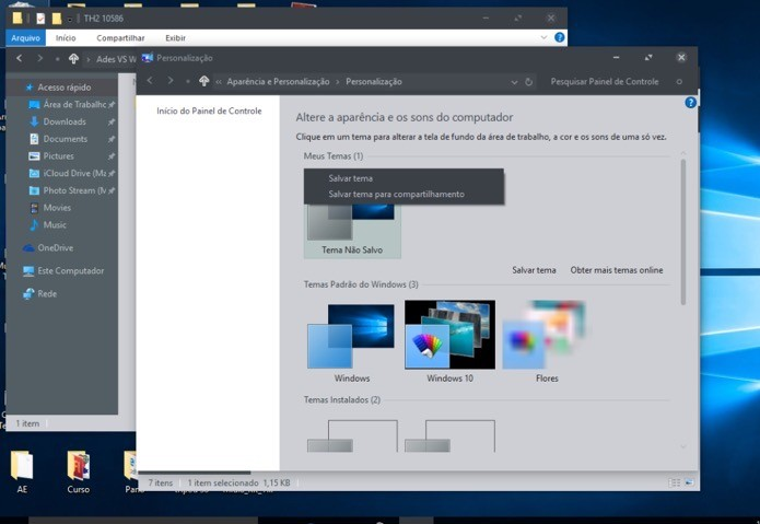 Interface do Windows 10 alterada (Foto: Reprodução/André Sugai)