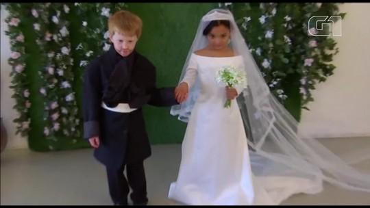 Fotógrafa cria versão mirim de casamento real em Nova York