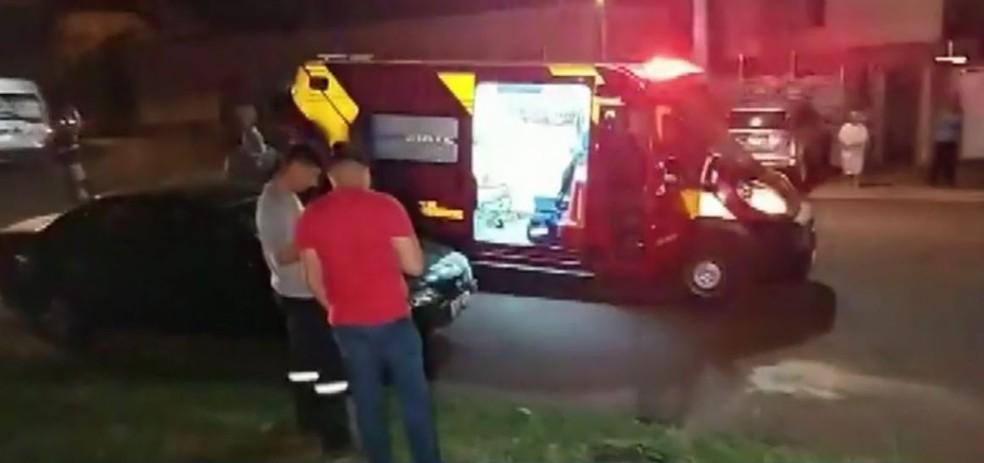 Acidente aconteceu na noite de terça (31), em Cascavel — Foto: Anderson Alves/Portal 24h
