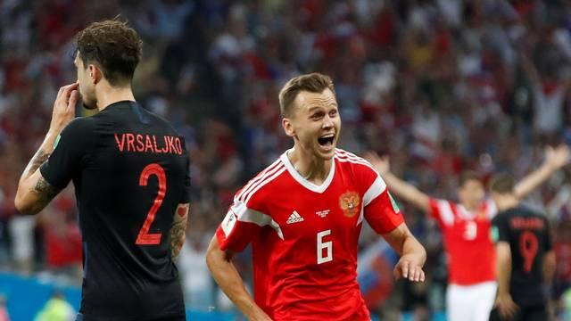 Cheryshev comemora gol em Rússia x Croácia