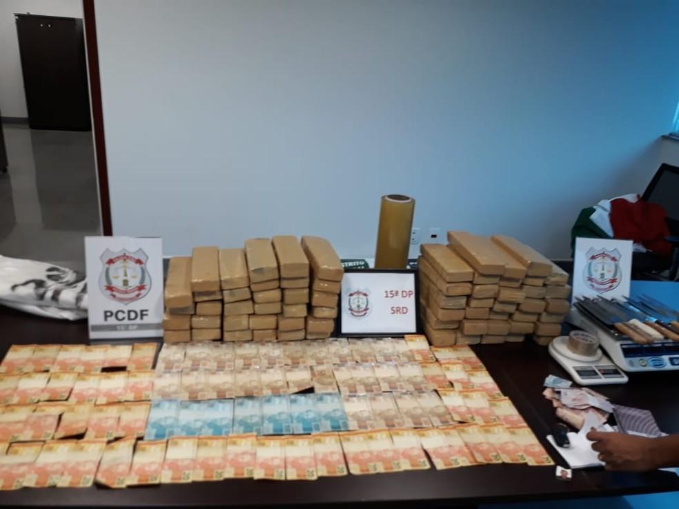 Polícia Civil apreende mais de 50 km de drogas em Ceilândia — Foto: PCDF / Divulgação