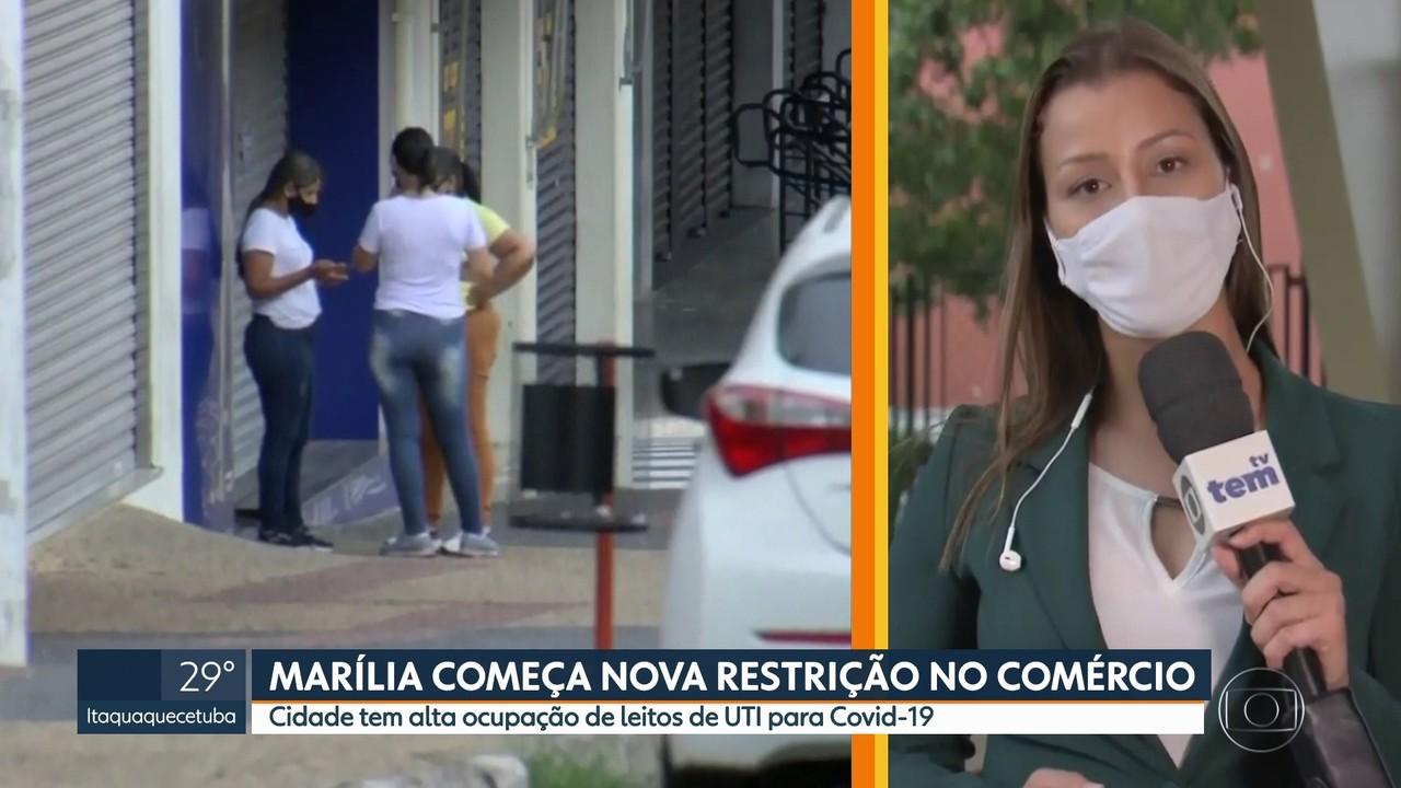 Marília espera remessa de vacina em meio a retorno para fase vermelha do Plano SP