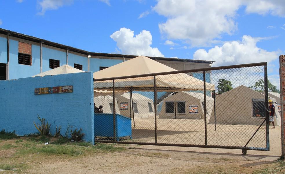 Abrigo tem nome em warao que significa casa grande (Foto: Emily Costa/G1 RR)