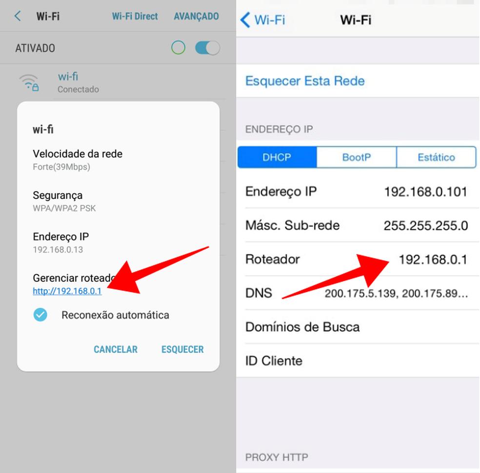 Descubra o endereço do roteador no celular (Foto: Reprodução/Paulo Alves)