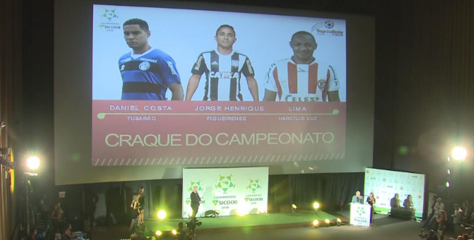 Em noite de premiação, Jorge Henrique é eleito o craque do Catarinense; veja a seleção