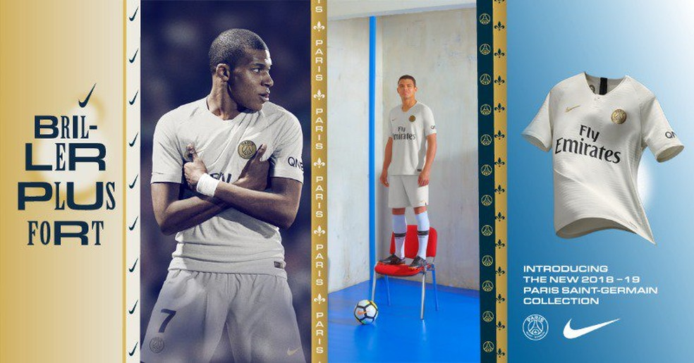 94e145872 ... Nova camisa branca PSG Mbappé — Foto  Twitter   PSG