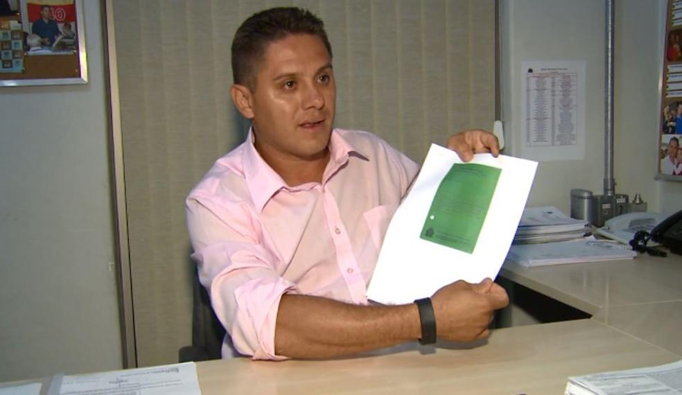 O vereador Paraná Filho (PSB) negou as acusações do aposentado em São Carlos — Foto: Reprodução/EPTV