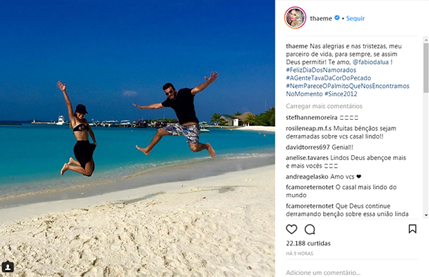 Thaeme Mariôto e Fábio Elias (Foto: Reprodução/ Instagram)