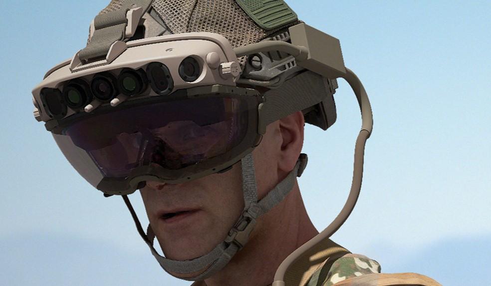 Óculos de realidade aumentada da Microsoft. — Foto: Divulgação/Microsoft
