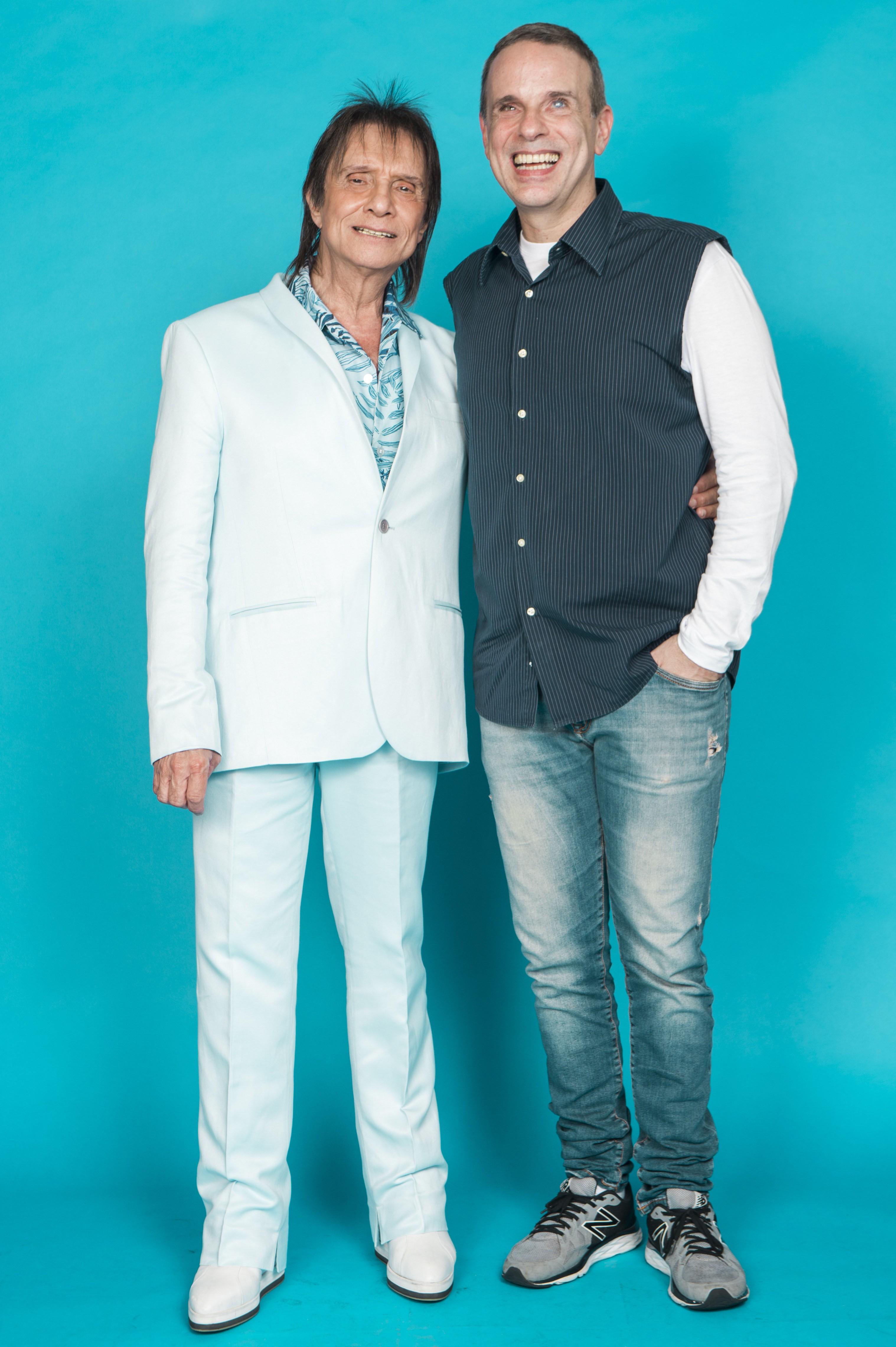 Roberto Carlos e  Dudu Braga (Foto: Globo)
