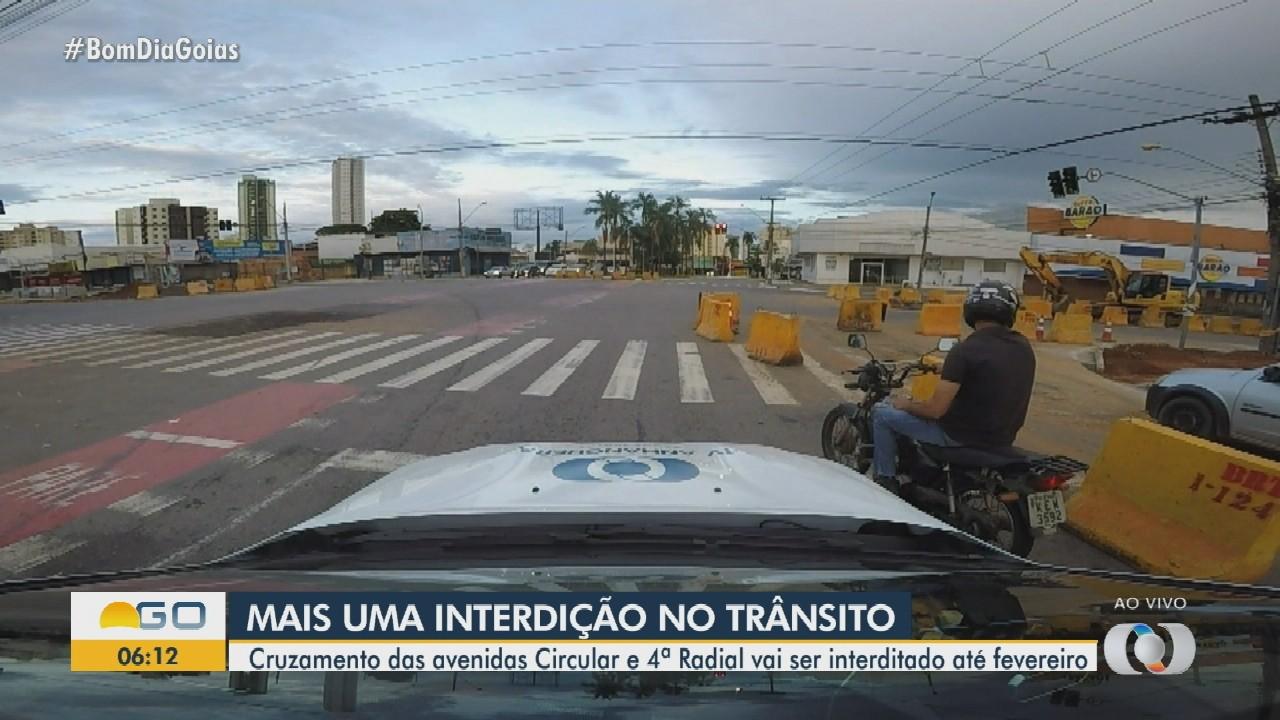 Novo trecho da Avenida 4ª Radial será interditado para obras do BRT, em Goiânia