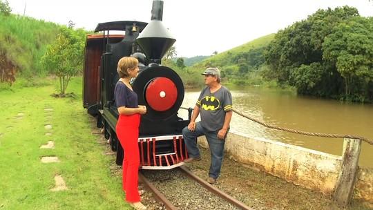 'Revista' deste sábado (19) mostrou ferrovia do senhor Nélio, em Vassouras