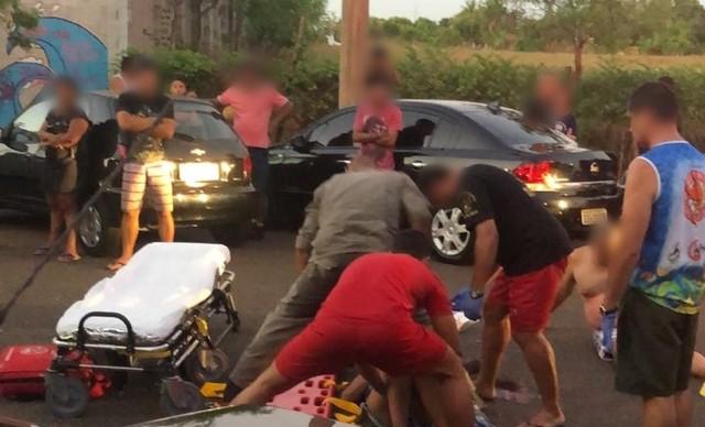 Corpo de Bombeiros foi acionado para socorrer vítimas em Pereira Barreto  — Foto: Reprodução/TV TEM