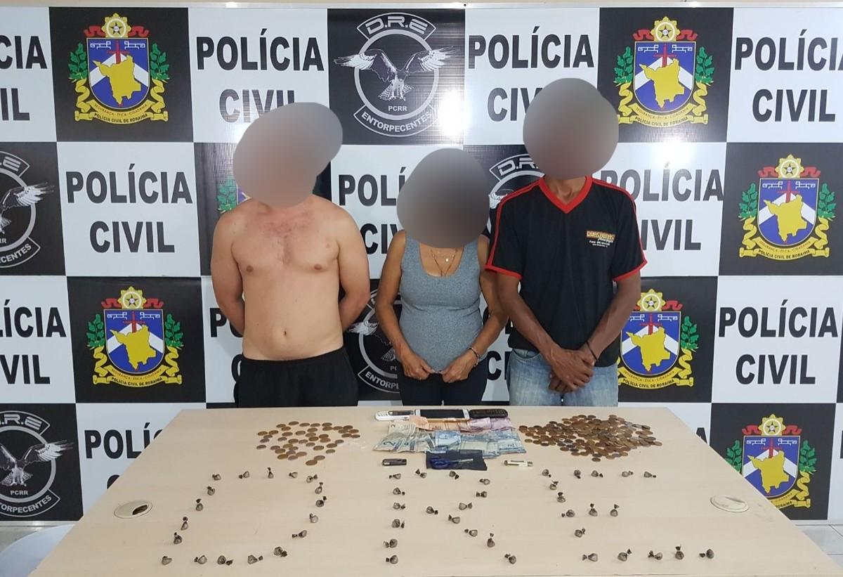 Mãe e filhos são presos com 54 trouxinhas de crack em Boa Vista