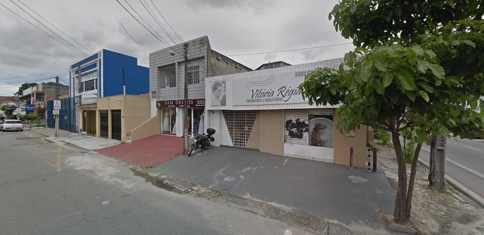 Salão de beleza no Bairro Montese foi fechado após morte da proprietária — Foto: Reprodução
