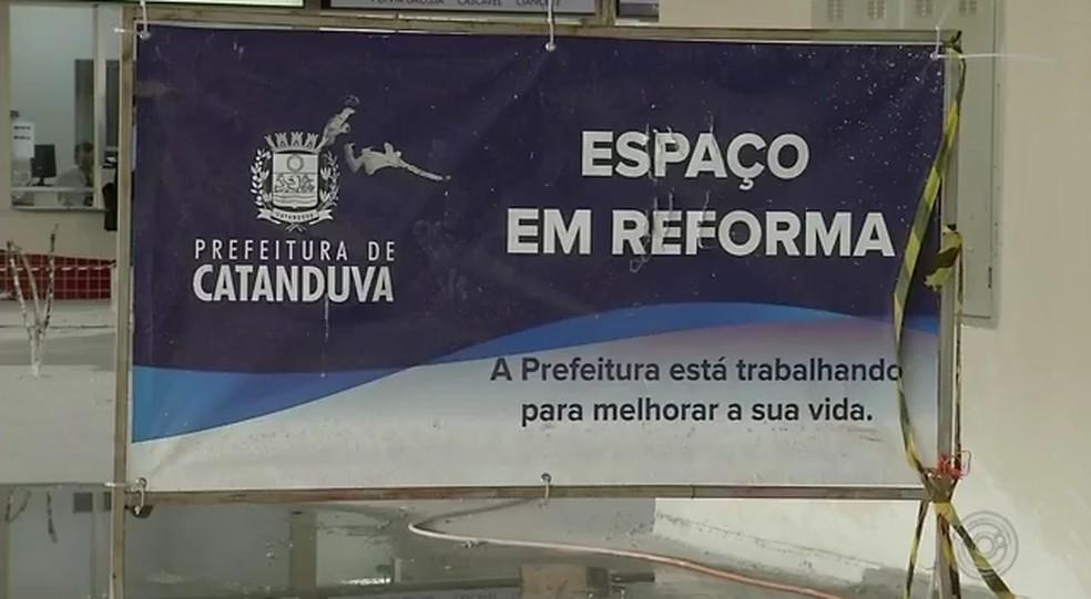 Rodoviária de Catanduva (SP) está em reforma há 3 anos — Foto: Reprodução/TV TEM