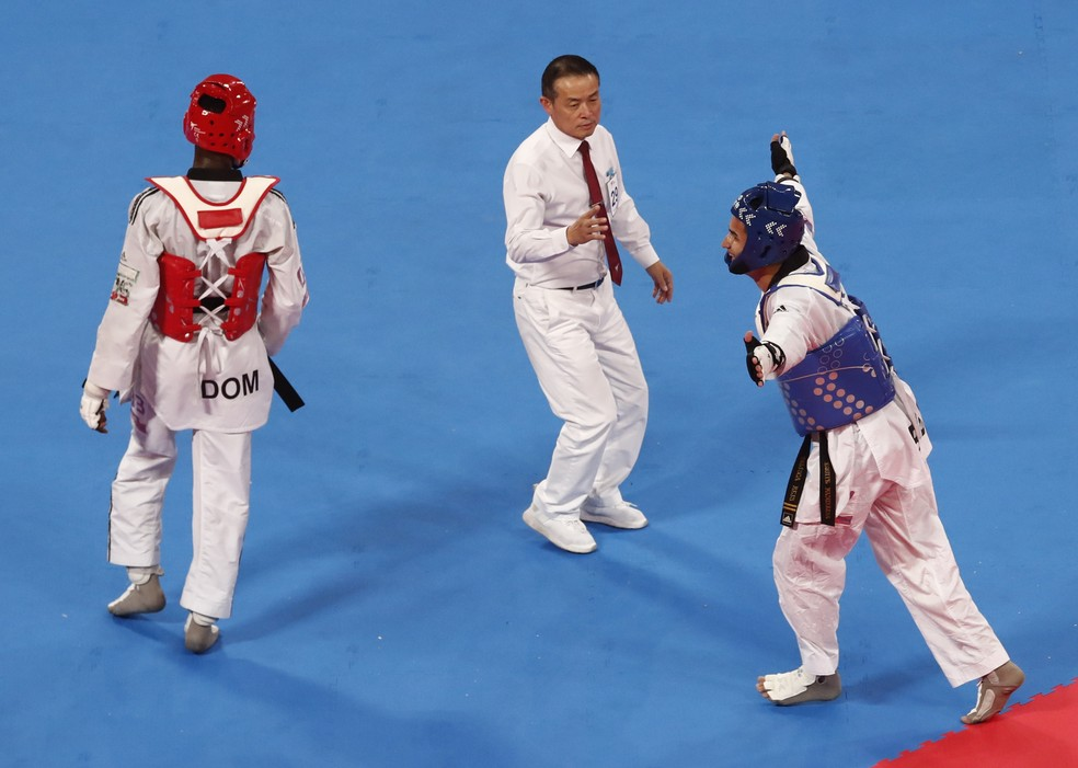 """Edival Pontes """"Netinho"""", ouro no taekwondo no Pan de Lima — Foto: Reuters"""