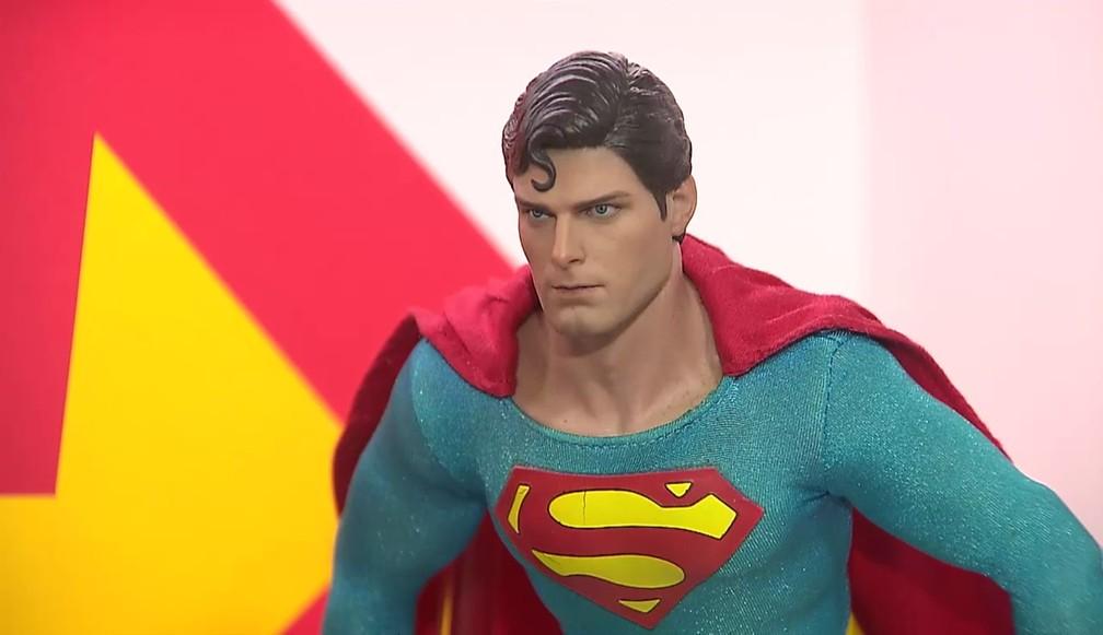 Réplica do Super-Homem de Christopher Reeve foi a primeira da coleção (Foto: Reprodução/TV Cabo Branco)