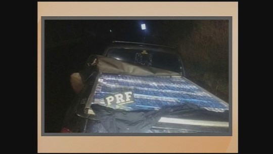 PRF apreende 33,5 mil maços de cigarros em dois veículos em Coronel Freitas