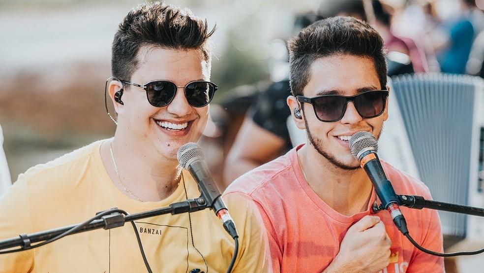 Dupla Hugo & Guilherme se apresenta em Goiânia — Foto: Divulgação