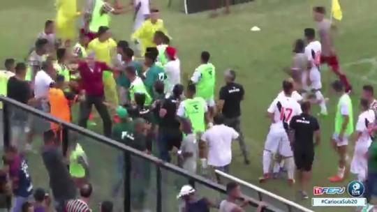 Briga, taça escondida e bronca em garoto: toda a confusão da final da Taça Rio sub-20