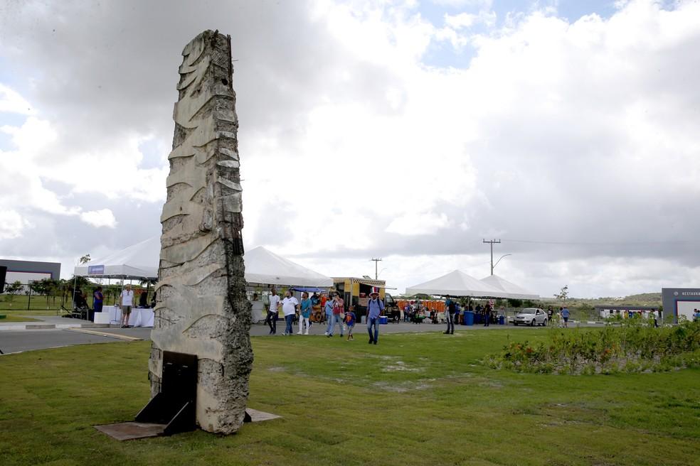 No CT há uma homenagem às vítimas da tragédia da Fonte Nova — Foto: Felipe Oliveira/Divulgação/E.C. Bahia